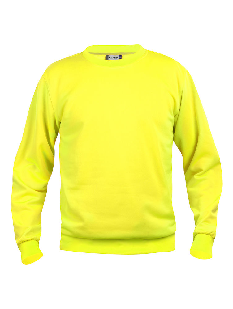 Collegegenser Clique Basic Roundneck, 11 visibility gul