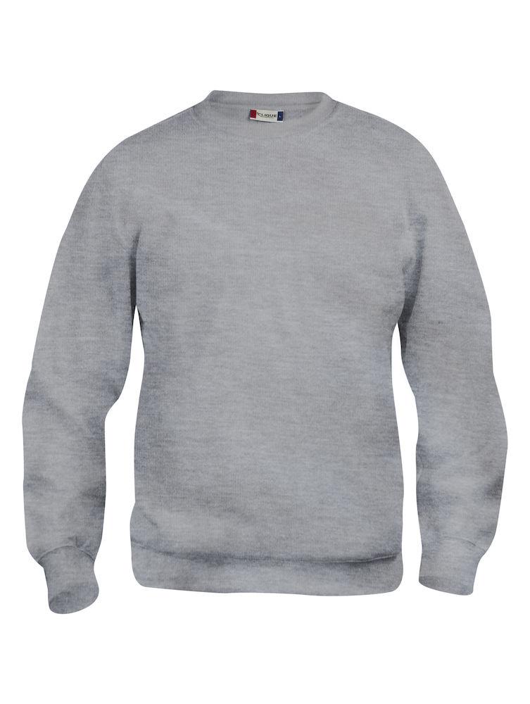Collegegenser Clique Basic Roundneck, 95 lys grå