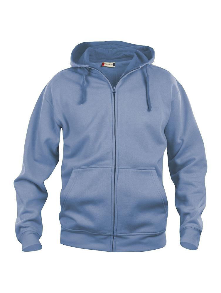 Hettejakke Clique Basic Hoody Fullzip, 57 lyseblå