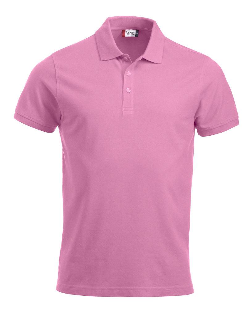 Pique-skjorte Classic Lincoln, Klar rosa