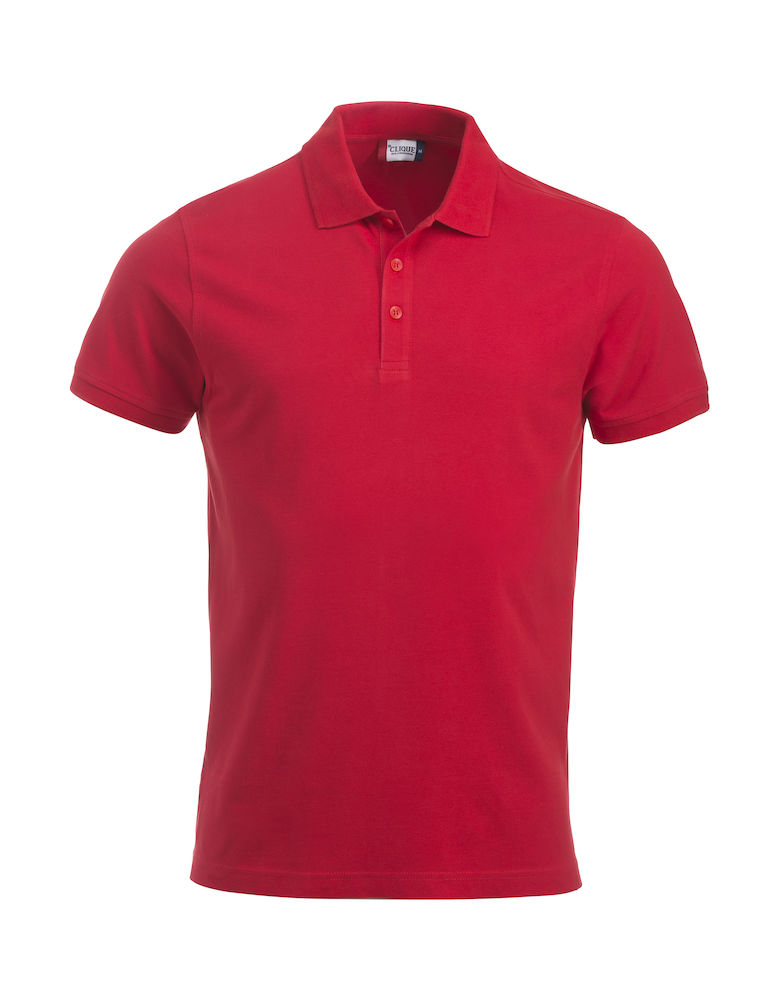 Pique-skjorte Classic Lincoln, Rød