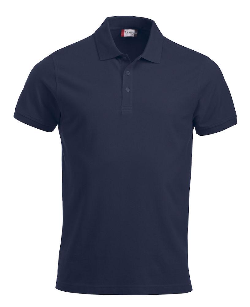 Pique-skjorte Classic Lincoln, Mørk marine
