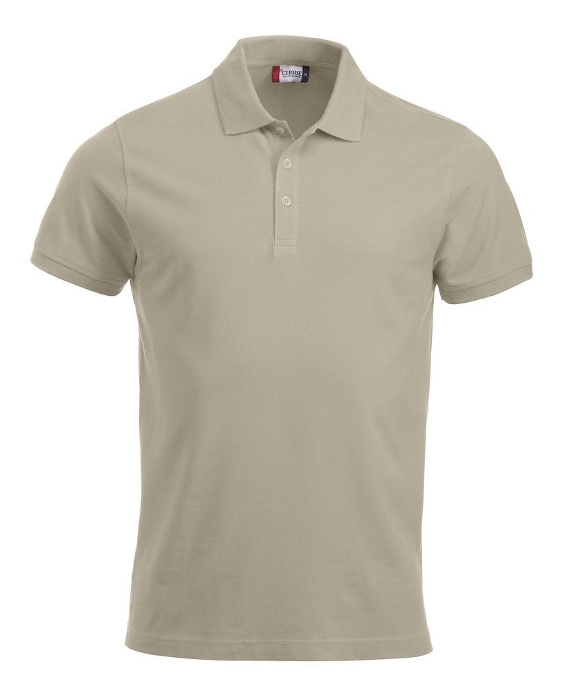 Pique-skjorte Classic Lincoln, Lys beige