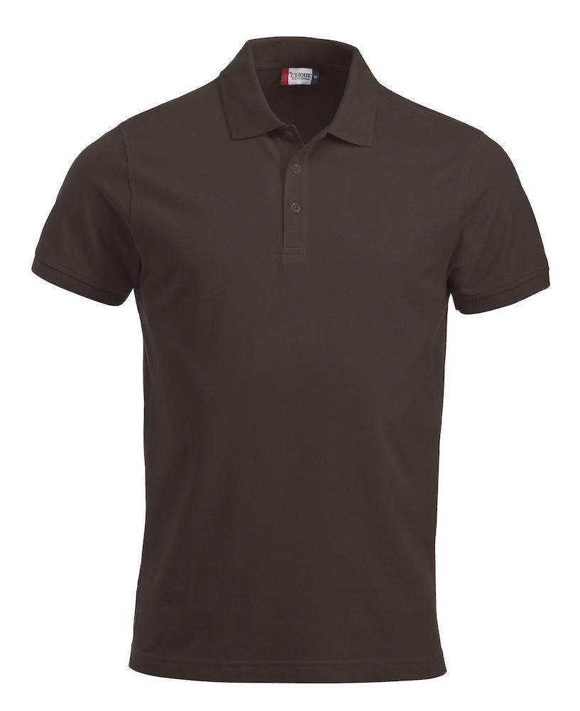 Pique-skjorte Classic Lincoln, Mørk mokka