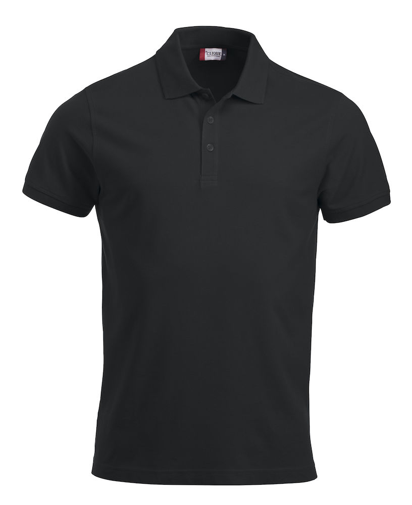 Pique-skjorte Classic Lincoln, Sort