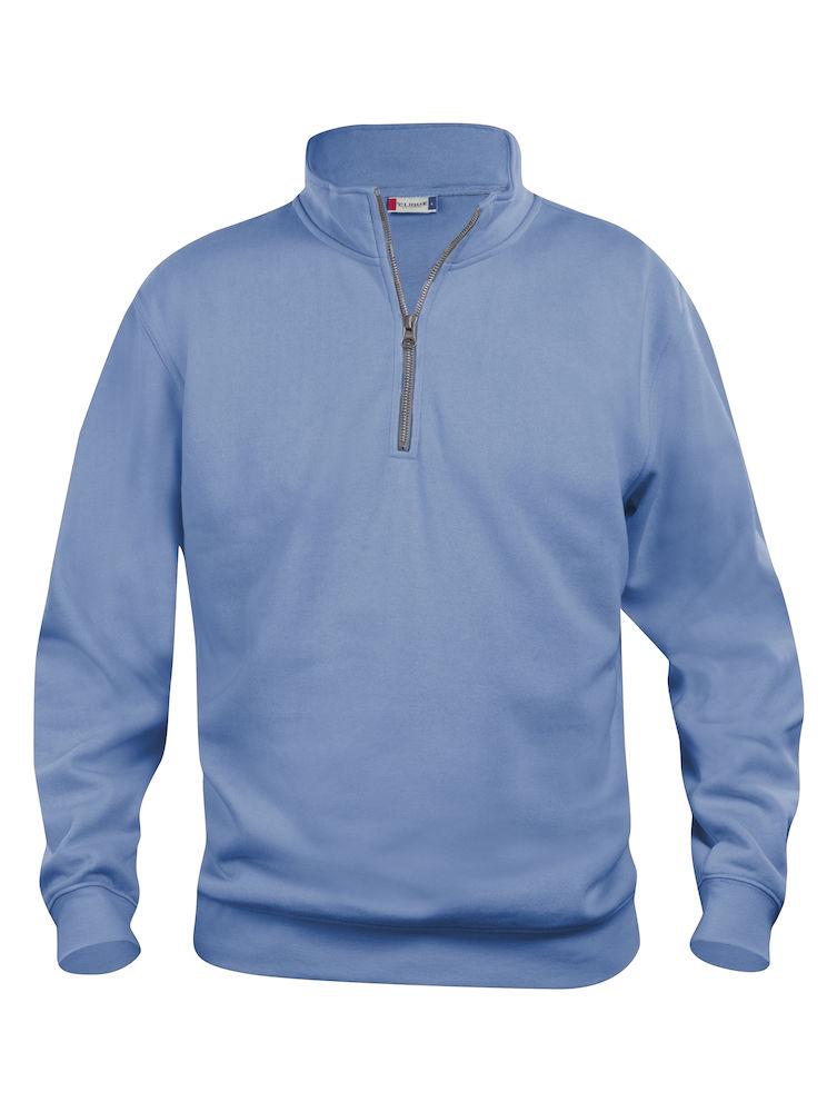 Genser Clique Basic Half Zip, lyseblå