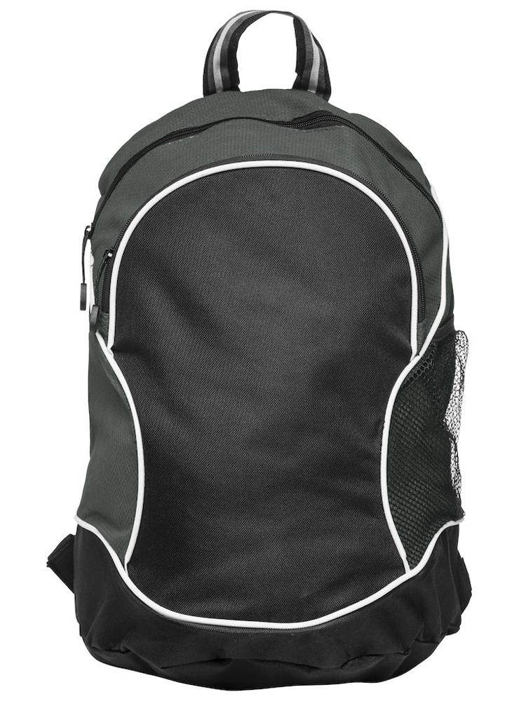 Ryggsekk Clique Basic Backpack, Sort med grått