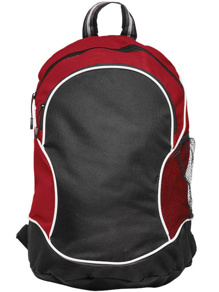 Ryggsekk Clique Basic Backpack, Sort med rødt