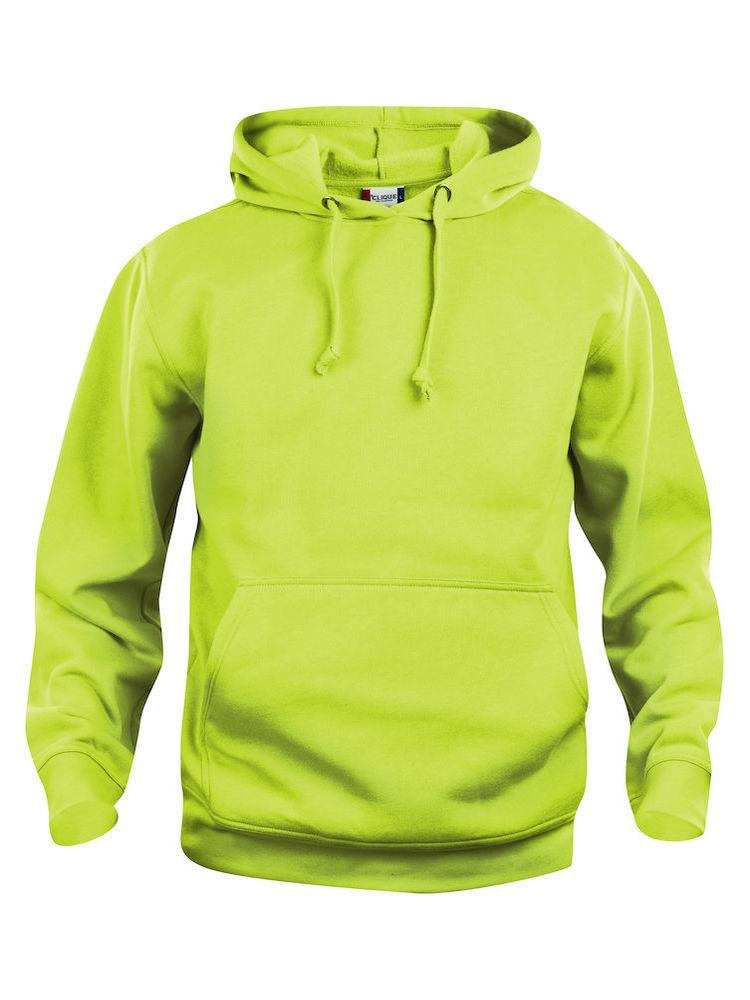 Hettegenser Clique Basic Hoody, Visibility green