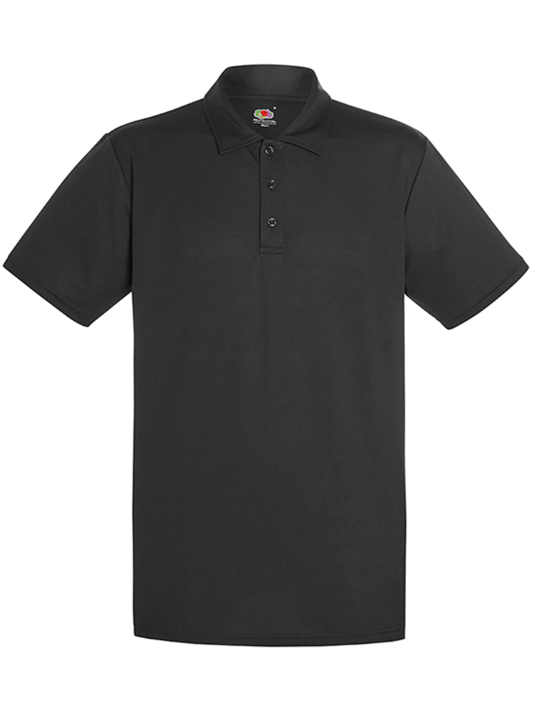 Fruit Of The Loom Performance Polo, Black