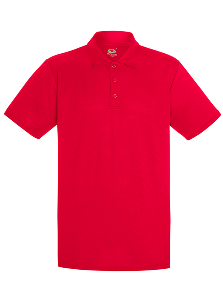 Fruit Of The Loom Performance Polo, Red