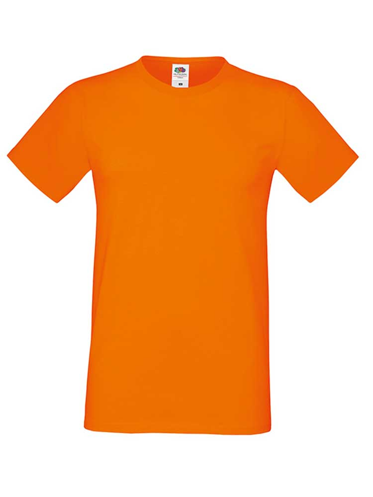 Fruit Of The Loom Sofspun T-skjorte, Orange
