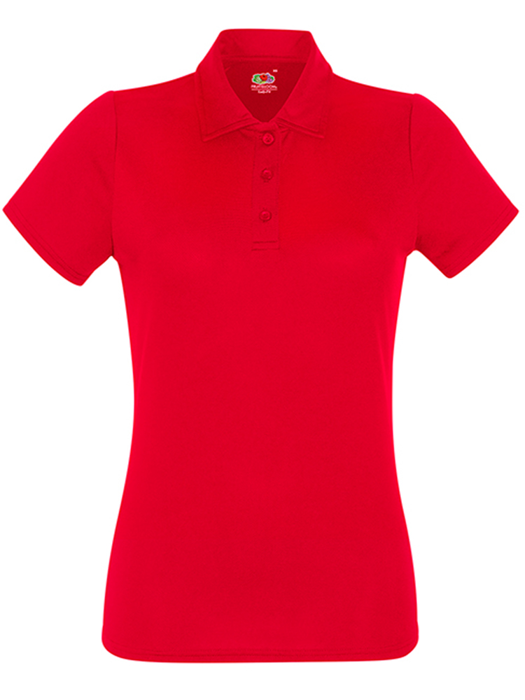 Fruit Of The LoomLady Fit-Performance Polo, Red