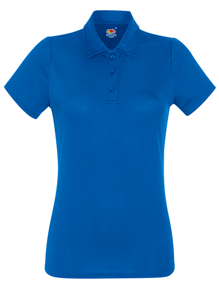 Fruit Of The LoomLady Fit-Performance Polo, Royal Blue
