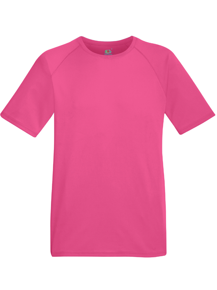 Fruit of the Loom Performance T, Fuscha rosa 57