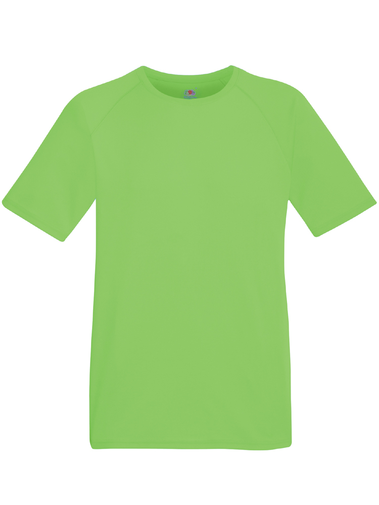 Fruit of the Loom Performance T, Limegroenn