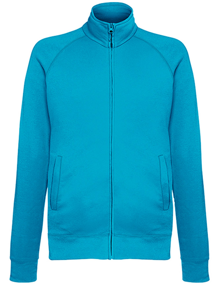 Fruit Of The Loom Lightweight Sweat Jacket, Azure