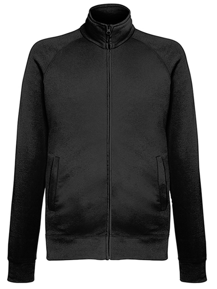Fruit of the Loom Light Weight Sweat Jacket, Black