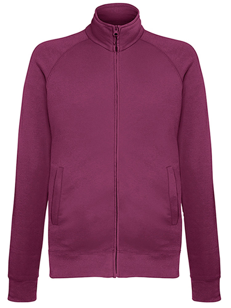 Fruit of the Loom Light Weight Sweat Jacket, Burgundy