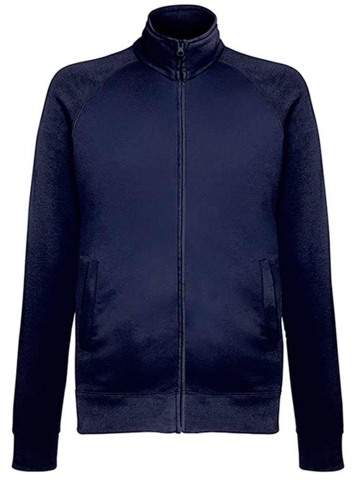 Fruit of the Loom Light Weight Sweat Jacket, Deep Navy