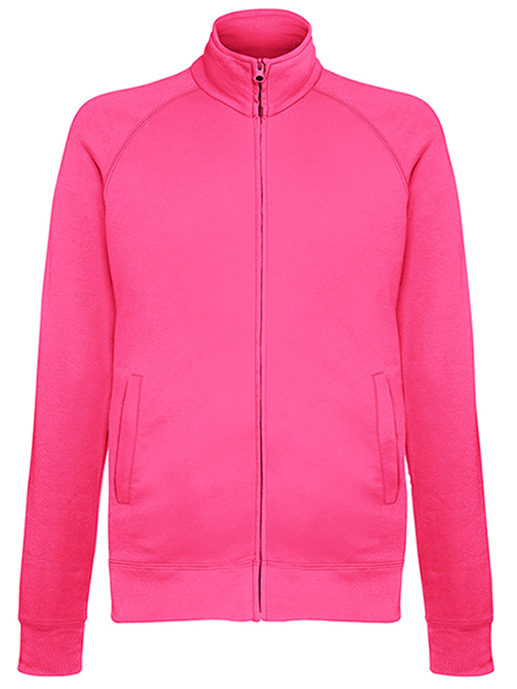 Fruit of the Loom Light Weight Sweat Jacket, Fuschia