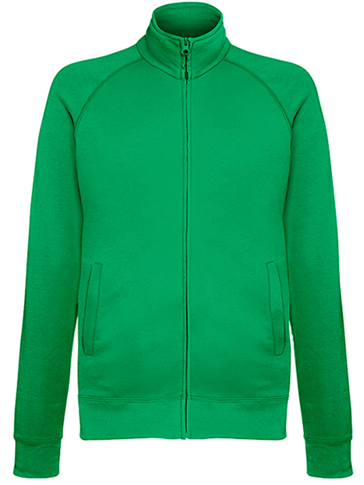 Fruit of the Loom Light Weight Sweat Jacket, Kelly Green
