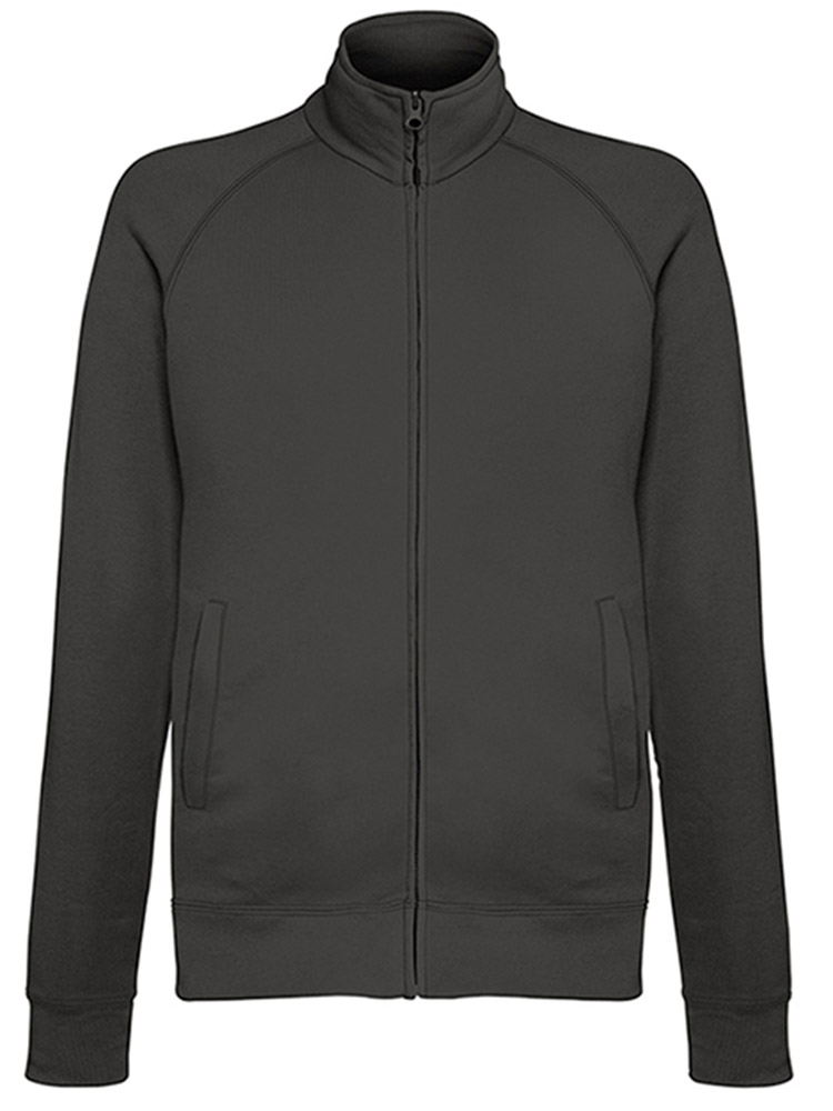Fruit of the Loom Light Weight Sweat Jacket, Light Graphite