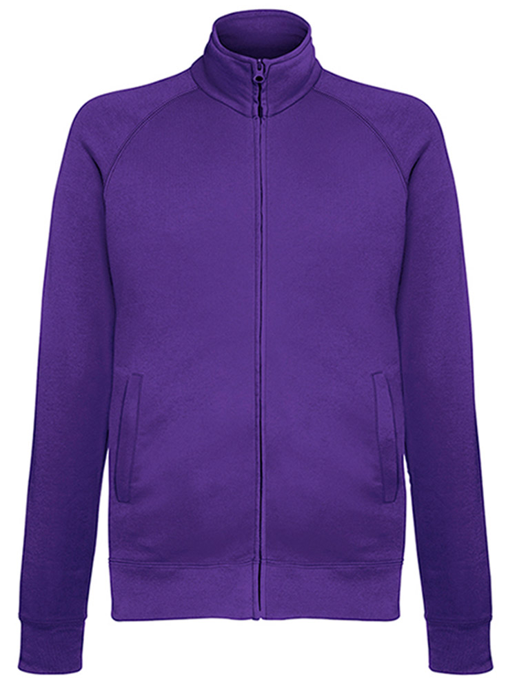 Fruit of the Loom Light Weight Sweat Jacket, Purple