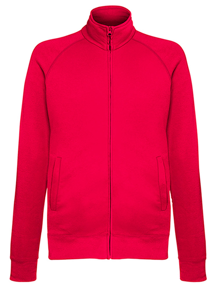 Fruit of the Loom Light Weight Sweat Jacket, Red