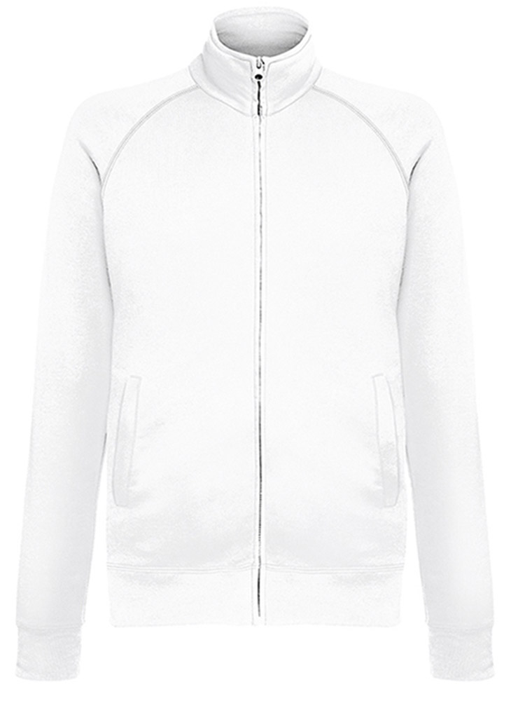 Fruit of the Loom Lightweight Sweat Jacket, White