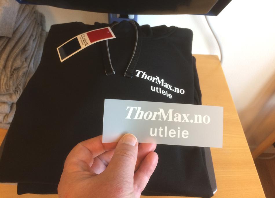 170b8b1c Trykke på klær selv - transfermerker - Avseth trykk og reklame