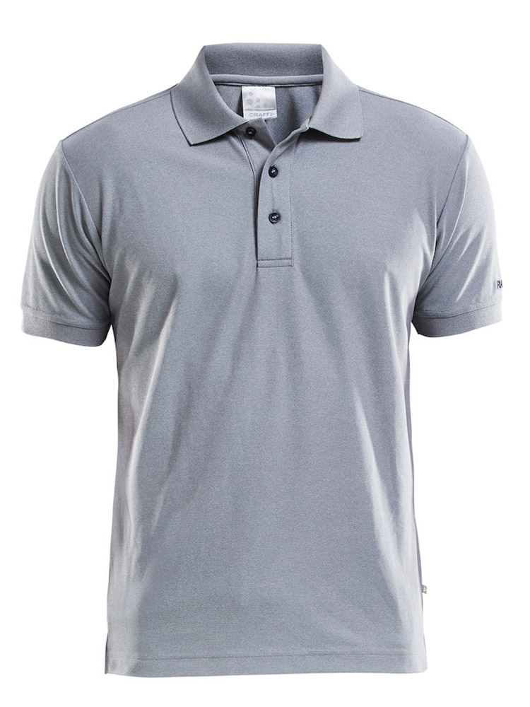 Craft Polo Shirt Pique Classic, Grey Melange