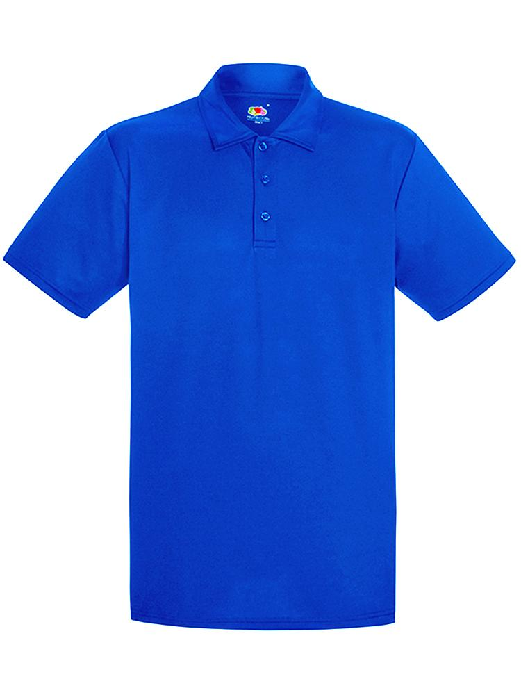 Royal Blue Fruit Of The Loom Perf Polo Boost