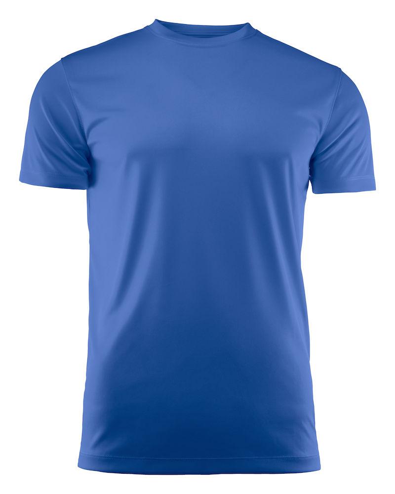 T-skjorte Printer Run, Blå