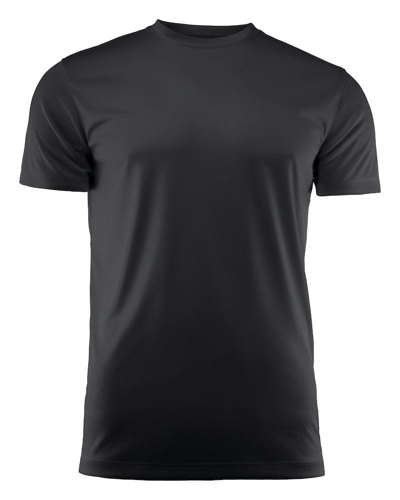 T-skjorte Printer Run, Sort