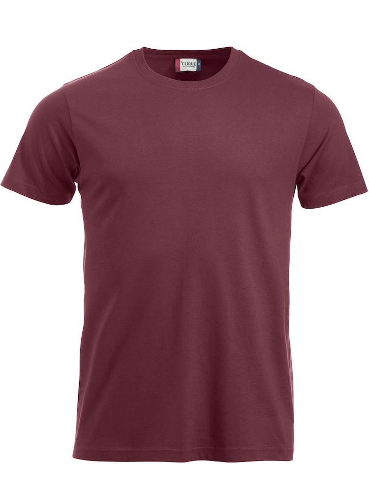 T-skjorte Clique New Classic-T, Burgunder
