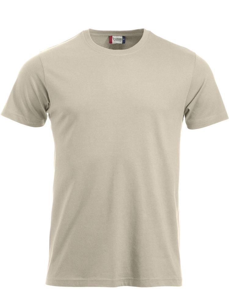 T-skjorte Clique New Classic-T, Lys beige