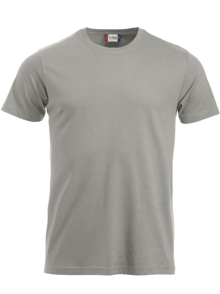 T-skjorte Clique New Classic-T, Sølv