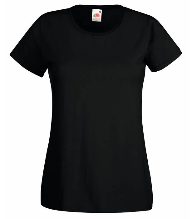 Fruit Of The Loom Valueweight T Lady, Black