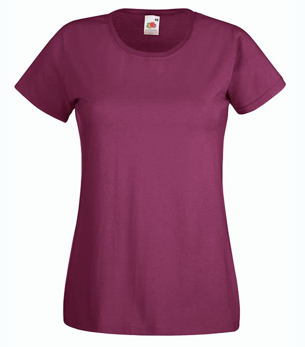 Fruit of the Loom Valueweight T Lady, Burgundy