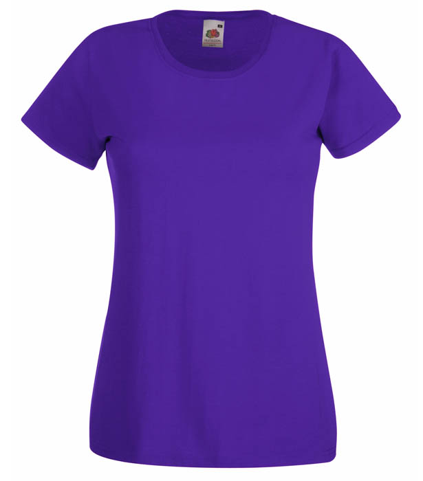 Fruit Of The Loom Valueweight T Lady, Purple