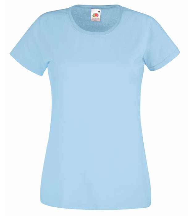 Fruit of the Loom Valueweight T Lady, Sky Blue