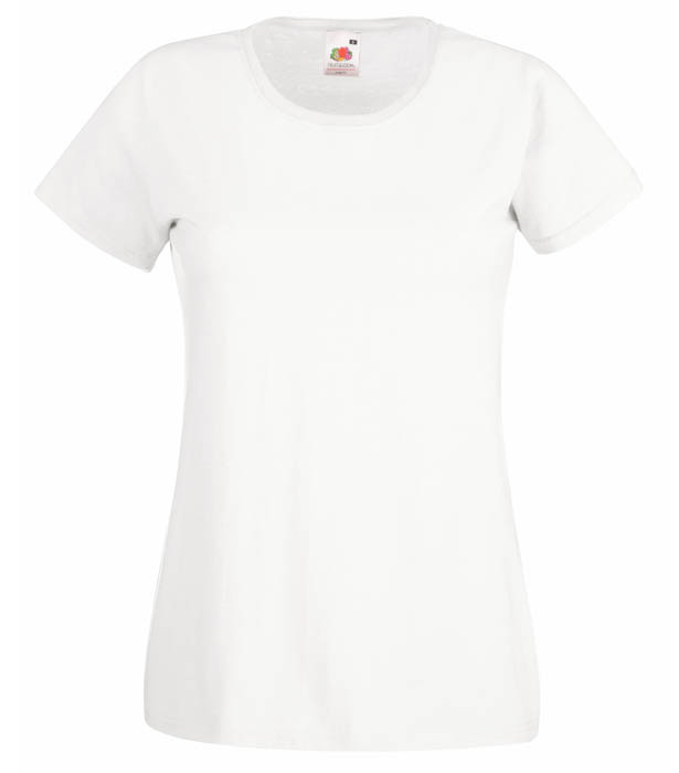 Fruit of the Loom Valueweight T Lady, White