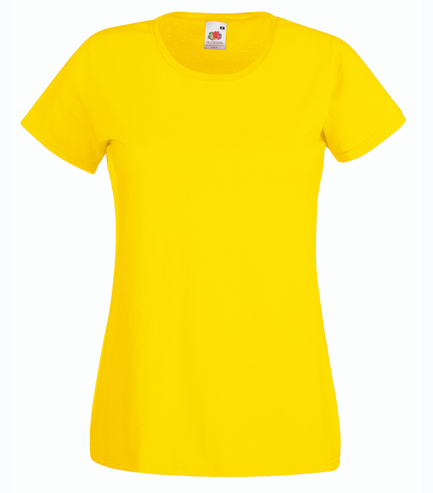 Fruit of the Loom Valueweight T Lady, Yellow