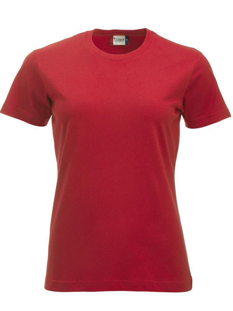 Clique New Classic-T Ladies, rød