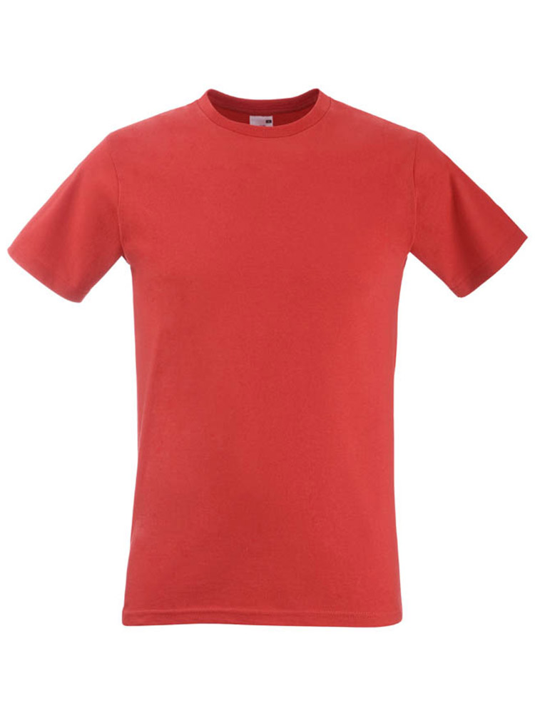 Fruit T-Shirt Fitted Valueweight T, Red