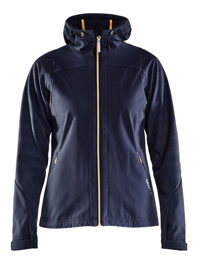 Craft Highland Jacket Dame Gravel Med Hvitt