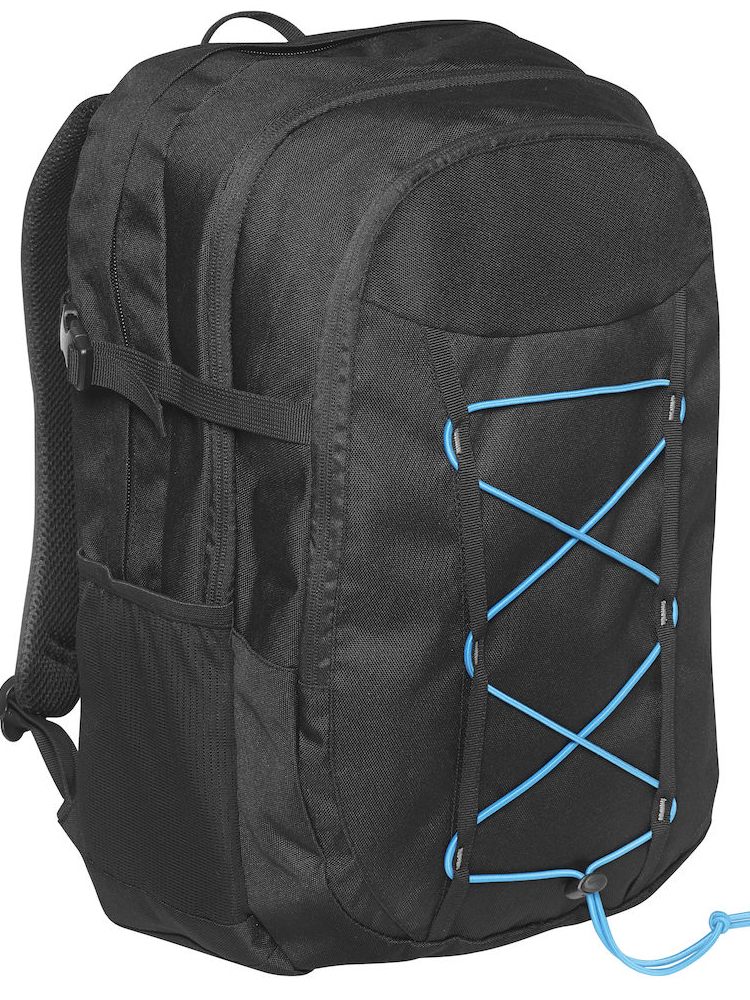 Grizzly Sporty line Computer backpack, svart med blått