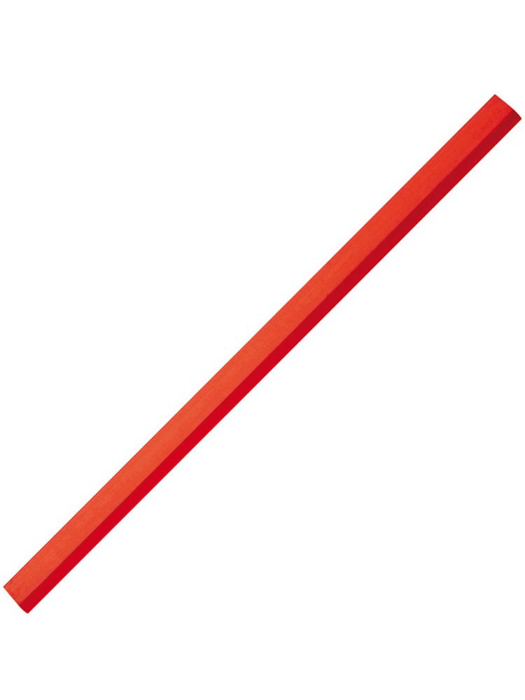Tømrerblyant med logotrykk, Rød