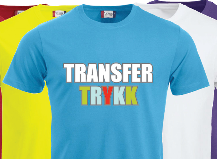 cae74fa3 Transfertrykk for tekstiltrykk på alle typer klær - Avseth trykk og reklame